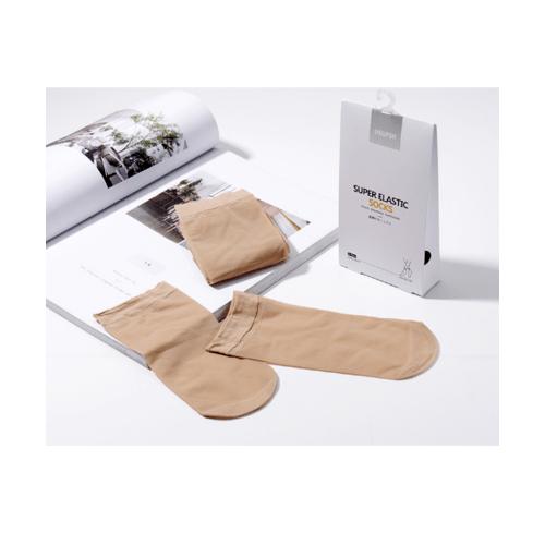 USUPSO ถุงเท้าบาง 6 ชิ้น - สีน้ำตาล