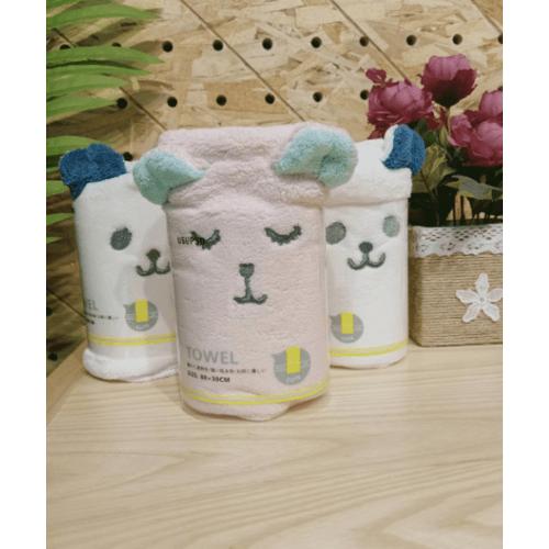USUPSO ผ้าขนหนู รูปแมว คละสี -