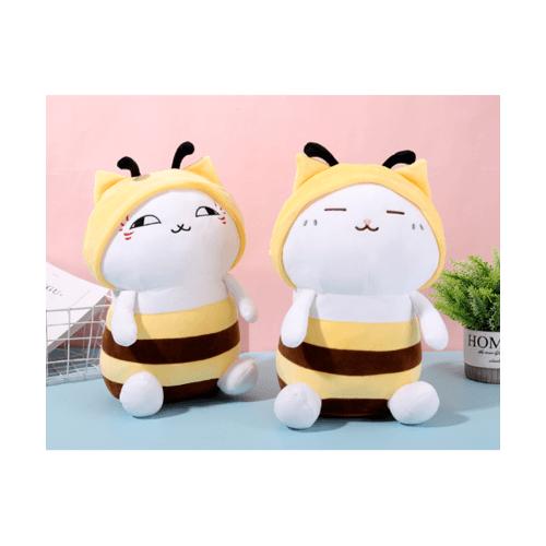 USUPSO  หมอนตุ๊กตาแมวในชุดผึ้ง 33 ซม. - สีเหลือง