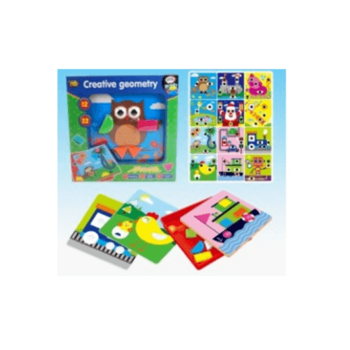 Sanook&Toys  ของเล่นเสริมพัฒนาการ Geometric mosaic   808-9