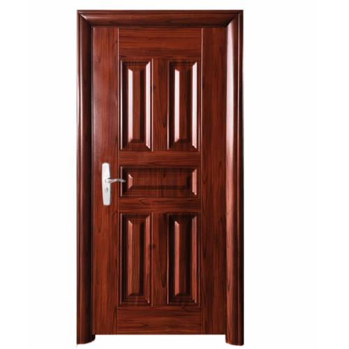 Wellingtan ชุดประตูเหล็กพร้อมวงกบ เปิดขวา เปิดออก ขนาด106x212x13ซม. หนา0.82   Hwu-C3R-out