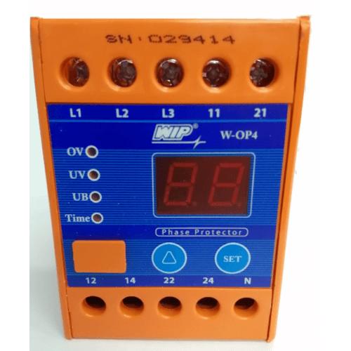 WIP เฟสโปรเทคชั่น W-OP4 380V สีน้ำเงิน