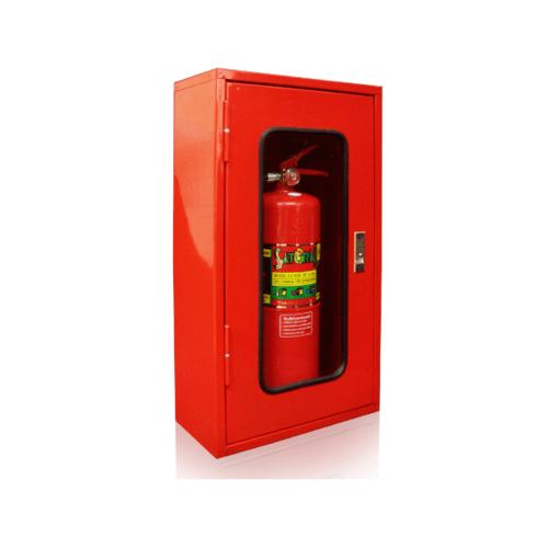 ตู้เก็บเครื่องดับเพลิงเดี่ยว แบบลอย กระจกธรรมดา 40x20x70 cm. - แดง
