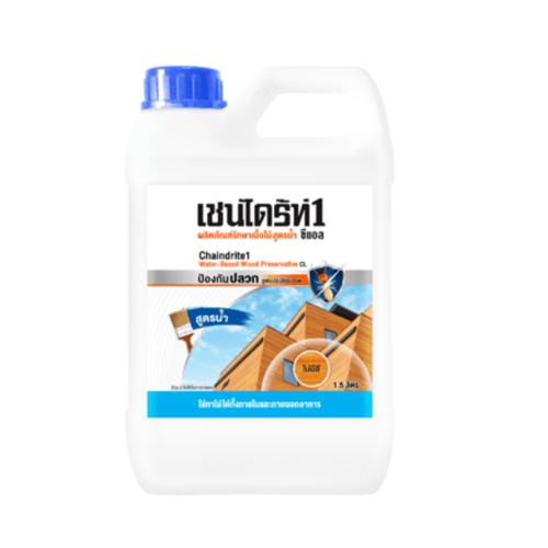 TOA CHAINDRITE เชนไดร้ท์ 1 รักษาเนื้อไม้ สูตรน้ำ สีใส 1.5L  #000CL