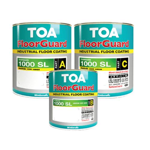 TOA HDC ฟลอร์การ์ด 1000SL สีทับหน้า ส่วนเอ 1 กล  #7035 (เซ็ท) สีเทาอ่อน