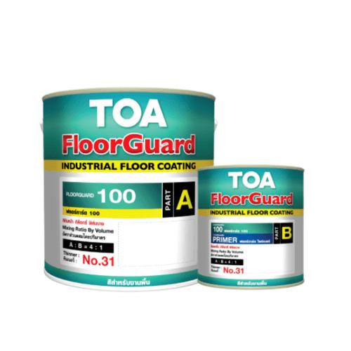 TOA HDC ฟลอร์การ์ด 100 สีทับหน้า ส่วนเอ 1 กล  #7042 สีเทาอ่อน