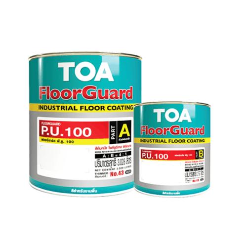 TOA HDC ฟลอร์การ์ด พียู 100 สีทับหน้า ส่วนเอ 1 กล  #9005 สีดำ