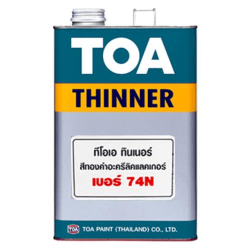 TOA ทินเนอร์ สีแลคเกอร์อะครีลิค 1/4 กล #074N ใส