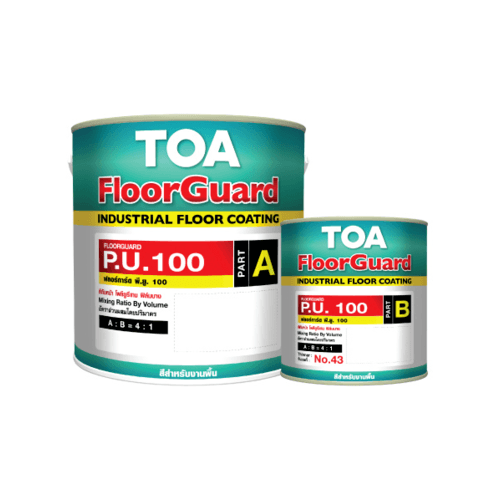 TOA HDC ฟลอร์การ์ด พียู 100 สีทับหน้า ส่วนเอ 1 กล #1021 กลุ่มผลิตภัณฑ์ HEAVY DUTY