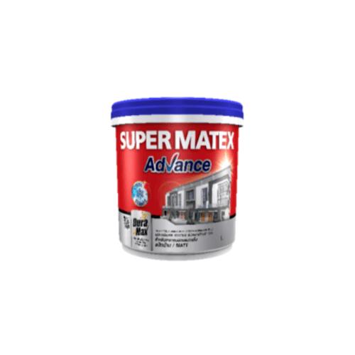 TOA Supermatex ซุปเปอร์เมเทค แอดวานซ์ สีน้ำด้าน ภายนอก เบส 1 กล #000D SUPERMATEX ADVANCE สีขาว