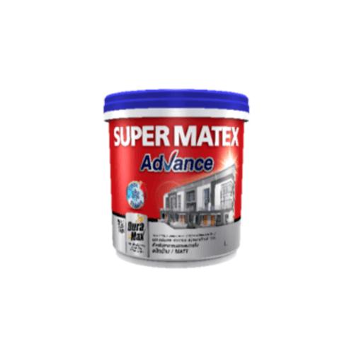 TOA Supermatex ซุปเปอร์เมเทค แอดวานซ์ สีน้ำด้าน ภายนอก เบส 9 ลิตร #000D SUPERMATEX ADVANCE สีขาว