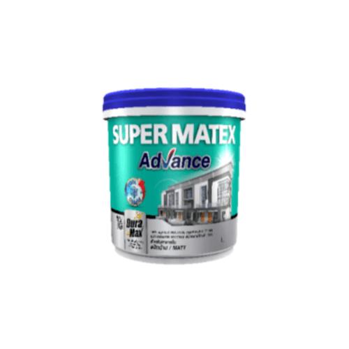 TOA Supermatex ซุปเปอร์เมเทค แอดวานซ์ สีน้ำด้าน ภายใน เบส 1 กล #00AA(ขาวพิเศษ) SUPERMATEX ADVANCE สีขาว