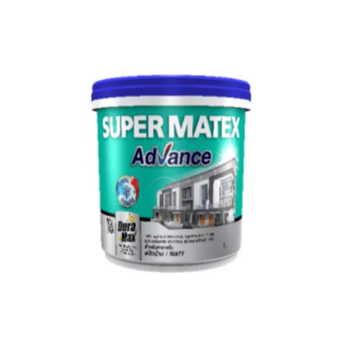 TOA Supermatex ซุปเปอร์เมเทค แอดวานซ์ สีน้ำด้าน ภายใน เบส 1 กล #000B SUPERMATEX ADVANCE สีขาว