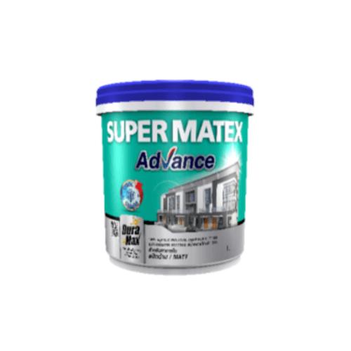 TOA Supermatex ซุปเปอร์เมเทค แอดวานซ์ สีน้ำด้าน ภายใน เบส 1 กล #000C SUPERMATEX ADVANCE สีขาว