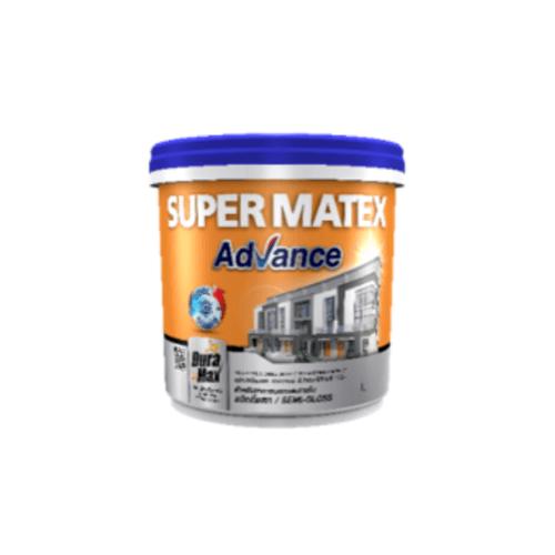 TOA Supermatex ซุปเปอร์เมเทค แอดวานซ์ สีน้ำกึ่งเงา ภายนอก เบส 9 ลิตร #000C SUPERMATEX ADVANCE สีขาว