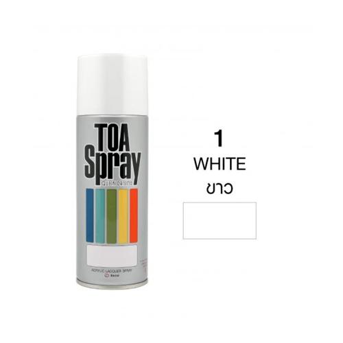 TOA สเปรย์อเนกประสงค์ ขนาด 400cc.  #0001 สีขาว