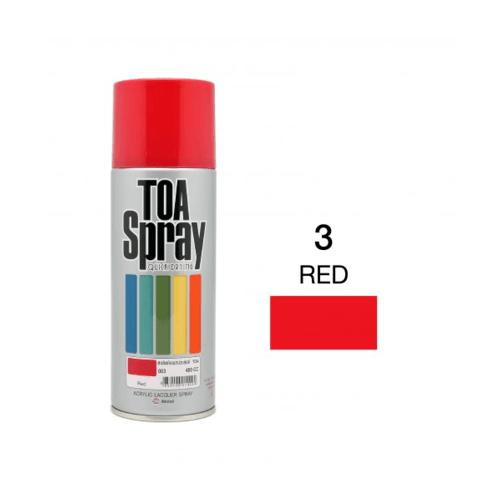 TOA สเปรย์อเนกประสงค์ ขนาด 400cc.  #0003 สีแดง
