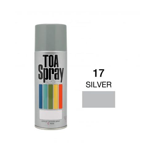TOA สเปรย์อเนกประสงค์ ขนาด 400cc.  #0017 สี Silver