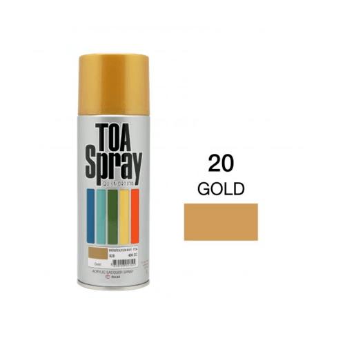 TOA สเปรย์อเนกประสงค์ ขนาด 400cc. #0020 สีทอง