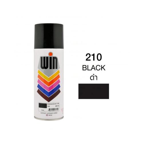 TOA  สีสเปรย์อเนกประสงค์ ขนาด400cc. WIN-210 สีดำ