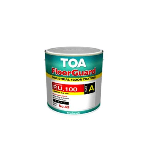TOA HDC ฟลอร์การ์ด พียู 100 สีทับหน้า ส่วนเอ  1 กล #9010