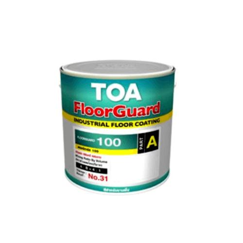 TOA HDC ฟลอร์การ์ด 100 สีทับหน้า เบส ส่วนเอ 1 กล  #000A