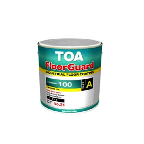 TOA HDC ฟลอร์การ์ด 100 สีทับหน้า เบส ส่วนเอ  1 กล #0ORG