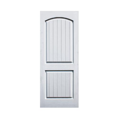 Eco door ประตูไฟเบอร์กลาส ขนาด 80x200 CM. ไม่เจาะ  2P สีขาว