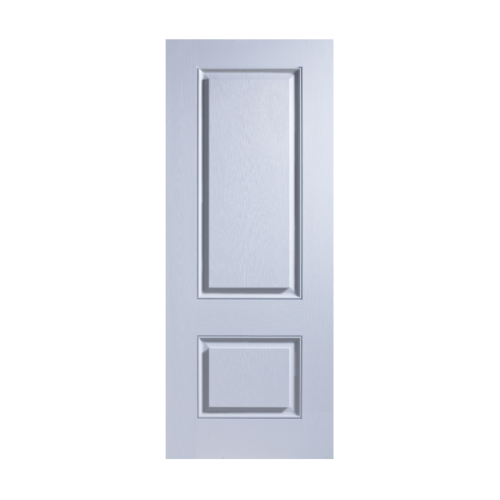 ECODOOR ประตูไฟเบอร์กลาส 2ฟัก ขนาด 90x200ซม.  (ไม่เจาะ)  2PT สีขาว