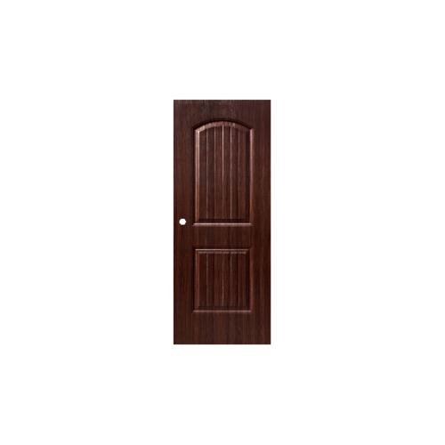 Eco door ประตู UPVC ขนาด80x200 ซม. 2CO  เจาะลูกบิด สีน้ำตาล