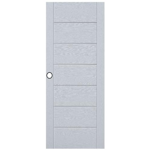 Eco door ประตูไฟเบอร์กลาส ขนาด 80*200CM. เจาะ 9P สีขาว