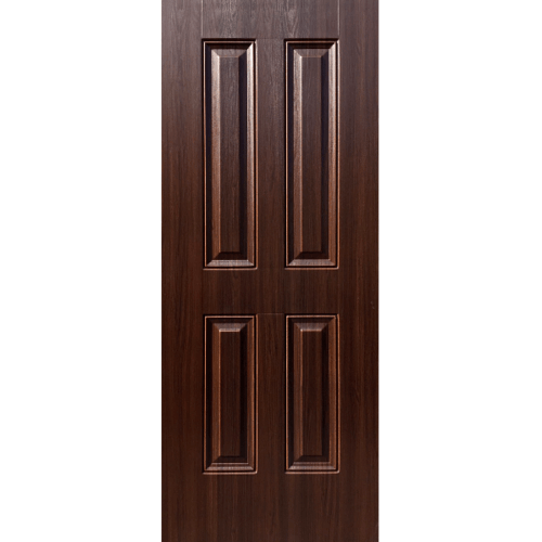 ECODOOR ประตู UPVC 4 ฟัก   ขนาด 80*200ซม.  สีโอ๊ค ไม่เจาะ