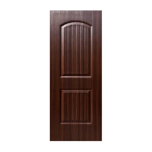 ECODOOR ประตูยูพีวีซี 2ฟัก 80x200cm. สีโอ๊ค ไม่เจาะ  2CO