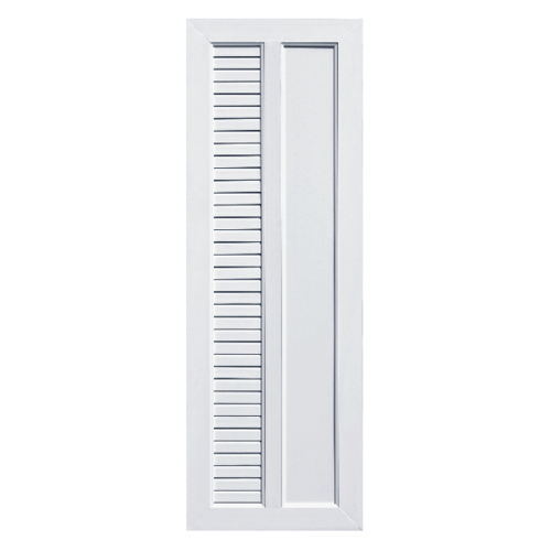 ECODOOR ประตู UPVC เกล็ดข้าง ขนาด 70cm.x200cm. ไม่เจาะ  UB2L สีขาว