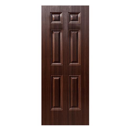 ECODOOR ประตู UPVC 6O  ขนาด  80x200CM. สีโอ๊ค ไม่เจาะ