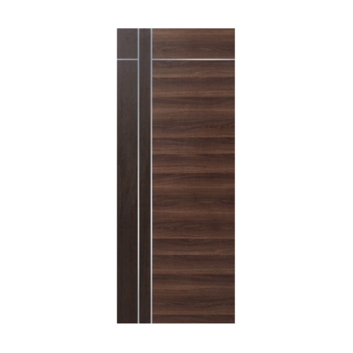 ECODOOR ประตู WPC ปิดผิวลามิเนต ขนาด 80cm.x200cm.   HPL3I สีโอ๊ค ไม่เจาะ