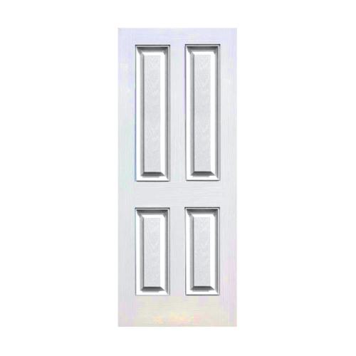 Eco door ประตูไฟเบอร์กลาส  ขนาด 80x200 ซม.ไม่เจาะ 4P  สีขาว
