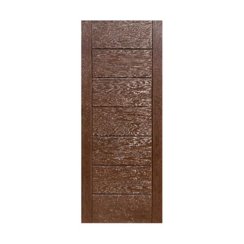 ECODOOR ประตูไฟเบอร์กลาส ขนาด80cm.x200cm. สีโอ๊ค ไม่เจาะ   9P