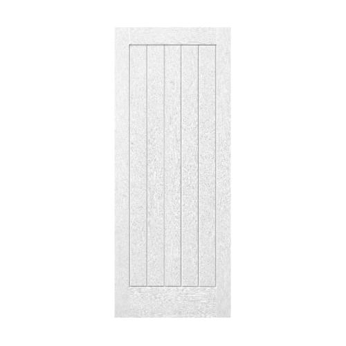 ECODOOR ประตูไฟเบอร์กลาส ขนาด 80cm.x200cm. ไม่เจาะ  5P  สีขาว