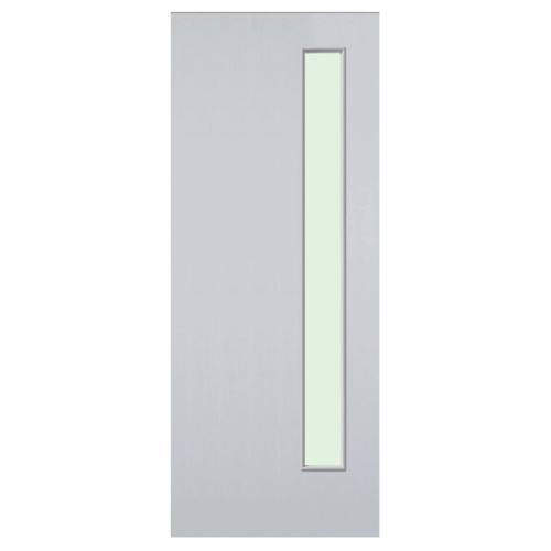 Eco door ประตูไฟเบอร์กลาส  ขนาด 80x200 ซม. ไม่เจาะ  FT1 สีขาว