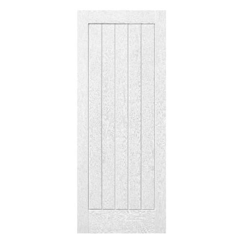 ECODOOR ประตูไฟเบอร์กลาส ขนาด 90x200 CM. 5P สีขาว