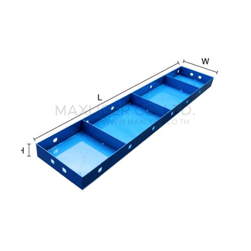 - แบบเหล็กเรียบ  ขนาด 200x600mm สีน้ำเงิน