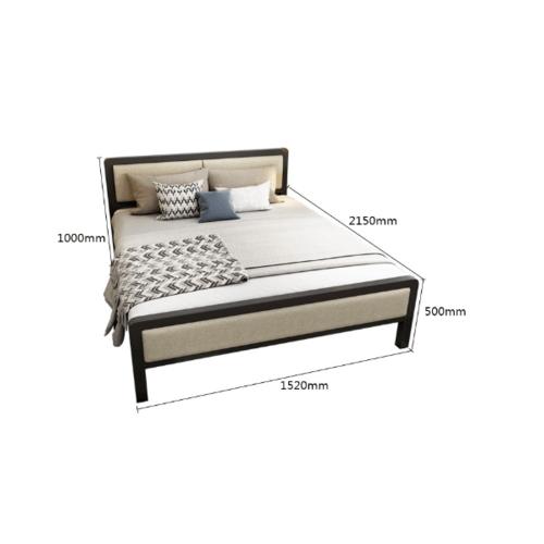Truffle เตียงเหล็กหัวเบาะ 6ฟุต  T180-KK