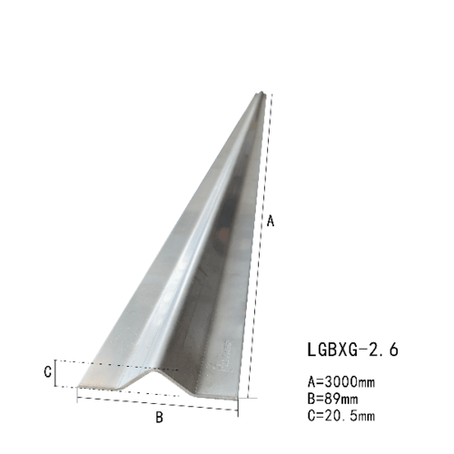 รางประตูรั้วสำเร็จรูปร่องฉาก สเตนเลส 304 (หนา2.6มม.) ยาว 300 ซม. LGBXG-2.6