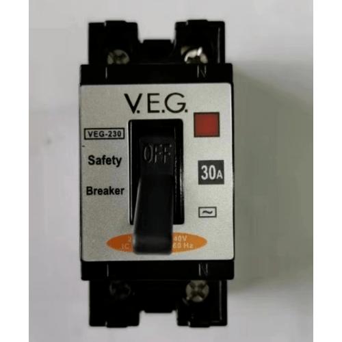V.E.G เซฟตี้เบรกเกอร์ NT-50 2P 30A สีดำ V.E.G. NT-50 2P 30A สีดำ สีดำ
