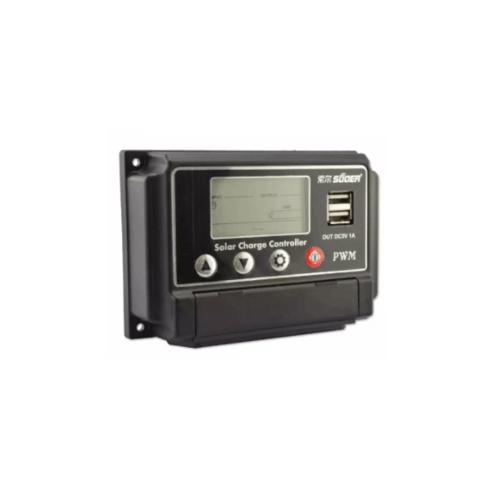 SUOER อุปกรณ์ควบคุมการชาร์จแผงโซล่าร์  PWM ST-W1220 20A 12V/24V