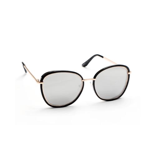 USUPSO  แว่นตากันแดด Fashion metal - สีดำ