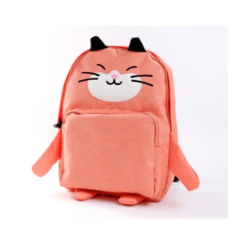 USUPSO  กระเป๋าเป้  รูปแมวสีส้ม