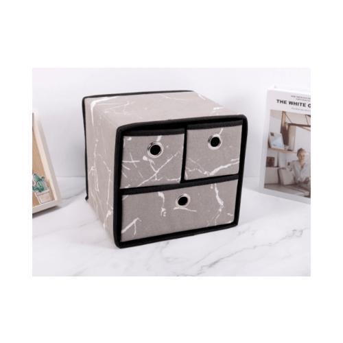 USUPSO กล่องเก็บของ Doodle design 3 ช่อง (#BJ) สีเทา