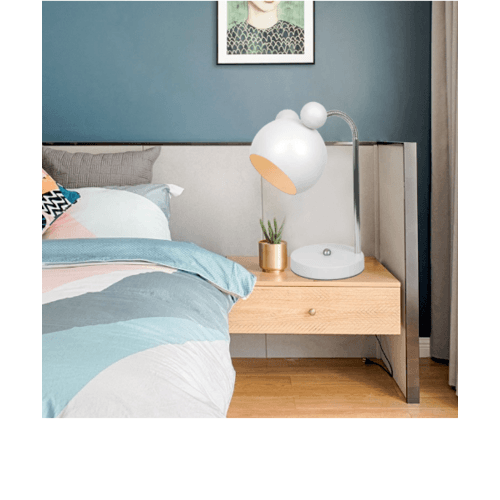 EILON โคมไฟตั้งโต๊ะ Modern MT51622-1  สีขาว